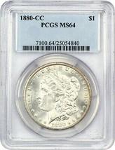 1880-CC $1 PCGS MS64 (Reverse of 1879) Better Carson City Dollar - $679.00