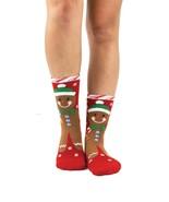 Gingerbread Man Foot Traffic Non-Skid Slipper Sock New Women's Size 9-11... - $10.95