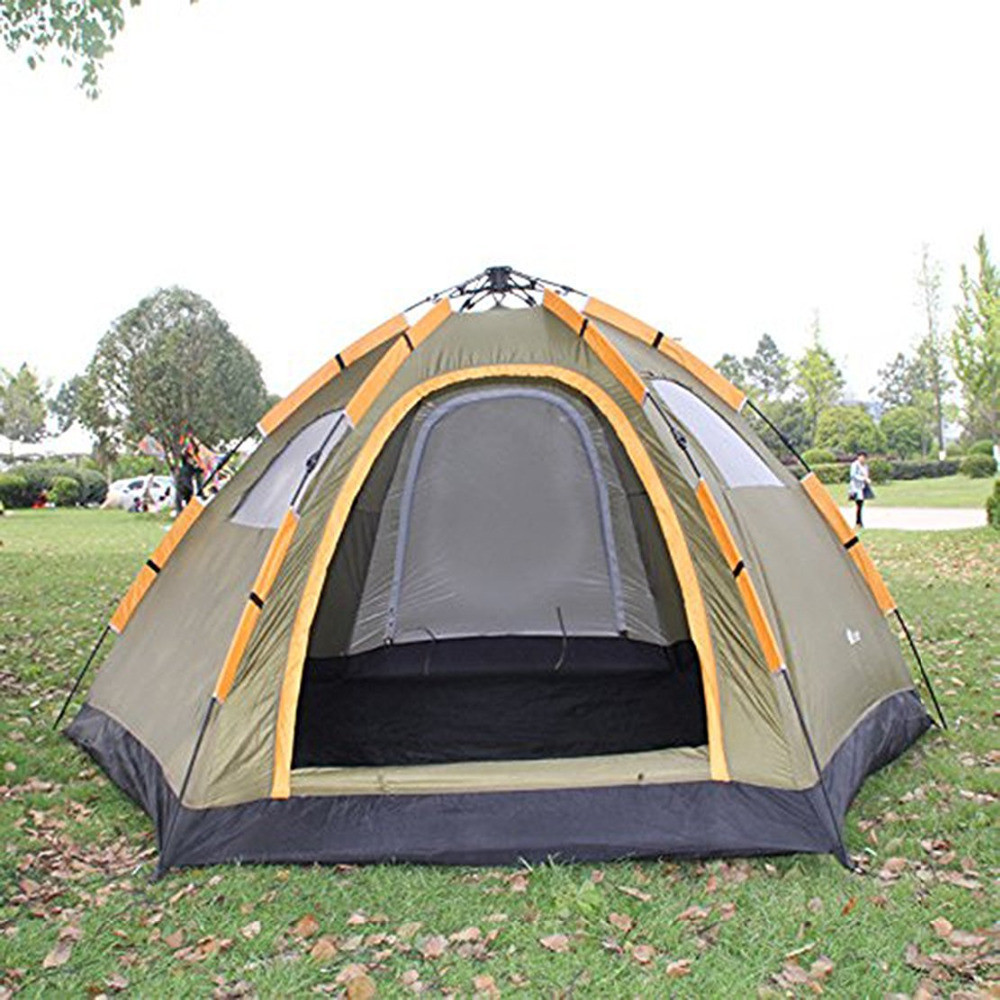 instant family tent 6 person large automatic pop up waterproof tent tents. Black Bedroom Furniture Sets. Home Design Ideas