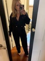 Vintage 90s Ann Taylor Black blazer jumpsuit - $99.00