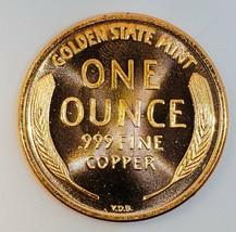 1909 S V.D.B   UNC  LINCOLN WHEAT CENT 1 OZ COPPER  # 206 image 2