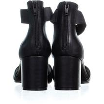 White Mountain Evie Criss Crossed Ankle Strap Sandals 736, Black, 10 US image 3