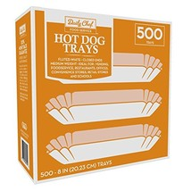Daily Chef Fluted Hot Dog Tray 8in., 500ct. - $22.49