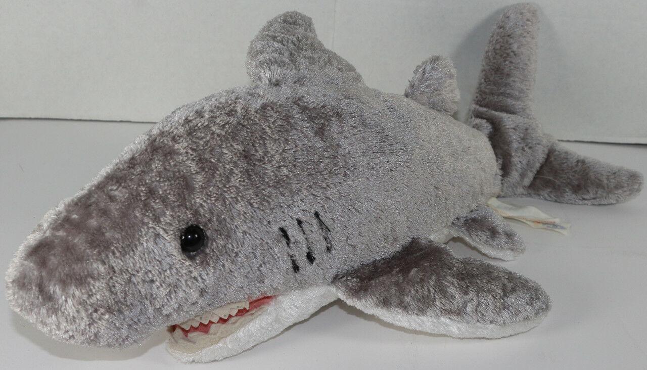 Mary Meyer FLIP FLOPS GREAT WHITE SHARK STUFFED PLUSH Animal SOFT TOY Gray CUTE
