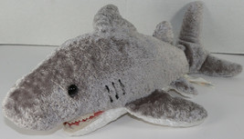 Mary Meyer Flip Flops Great White Shark Stuffed Plush Animal Soft Toy Gray Cute - $13.50