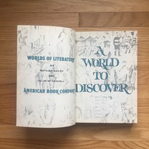 1963 A World to Discover textbook. By Matilda Bailey and Ullin Leavell image 5