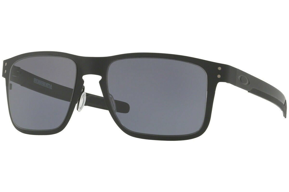 Primary image for Oakley Sunglasses Sports Holbrook Metal Matte Black w/Grey OO4123-01 55