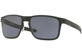 Oakley Sunglasses Sports Holbrook Metal Matte Black w/Grey OO4123-01 55 - $130.86