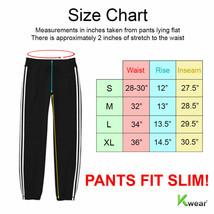 Men's Athletic Running Sport Workout Fitness Gym Zip Pocket Jogger Sweat Pants image 2