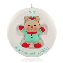 Hallmark Keepsake Ornament Great-Granddaughter Cute Little Bear 2015 - $0.98