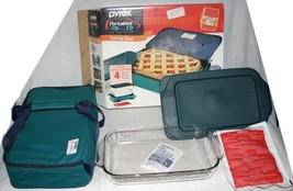 Pyrex Portables Family Size 2 Qt Originals Dish Insulated Food Carrier Set A++ - $20.52