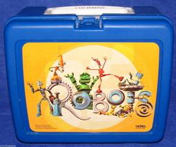 Robots Movie Lunch Box Cartoon Kid's Thermos Plastic School Supplies Sto... - $21.73