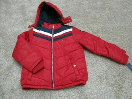 BNWT Tommy Hilfiger Big Boys David Hooded Puffer Red Jacket, Size L(14-16), $100 - $57.92