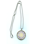ZODIAC 12 signs pendant NECKLACE ball chain birthday symbol jewelry unisex  - $5.99