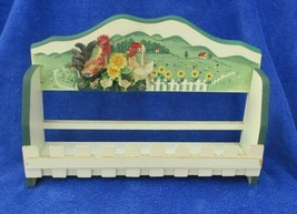 "Chicken  Decorated Spice Rack Vintage 11-1/2"" Long 8"" tall - £20.15 GBP"