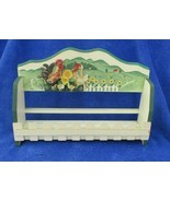 "Chicken  Decorated Spice Rack Vintage 11-1/2"" Long 8"" tall - $24.74"