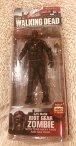 ESAR2701. Walking Dead Gas Mask Riot Gear Zombie Figure By Mc Farlane Toys (2013) - $18.81