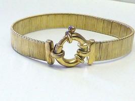 Vintage Veronese Sterling Silver Gold Vermeil Flex Woven Bracelet 21.2 Gram - $56.99