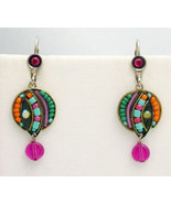Signed ADAYA Maya Micro Mosaic Earrings - $42.00