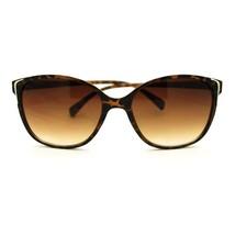 Womens Norncore Girly Retro Metal Accent Fashion Plastic Horn Rim Sunglasses - $7.95