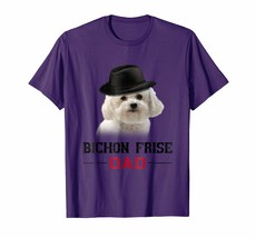 Funny Shirt - Bichon Frise Dad Shirt Father's Day Dog Lovers Gift Men - $19.95+
