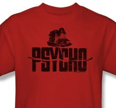 Psycho House T shirt Alfred Hitchcock classic movie red cotton tee UNI201 image 1