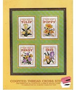 A Collection of Cross Stitch Pattern Booklet Coats & Clark 1981 5900-01 - $3.99