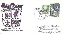 CIMARRON (AO-22) 20 Mar 1964 Locy Type 2 (n+) 25th Anniversary of Commis... - $3.47