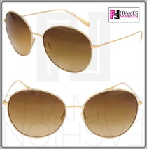 Oliver Peoples Blondell 1102 Gold Titanium Brown Beige Polarized Sunglass 1102ST - $333.63