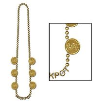 "Club Pack of 12 Shiny Gold ""Jackpot"" Beaded Necklace Party Favors 36'' - €29,67 EUR"