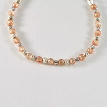 Bracelet en Argent 925 Rhodié avec des Boules à Facettes Et Zirconia Cubique - image 2