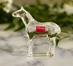 NEW Baccarat Finest French Crystal Noah's Ark Horse Artist Signed Retail $250 - $137.61
