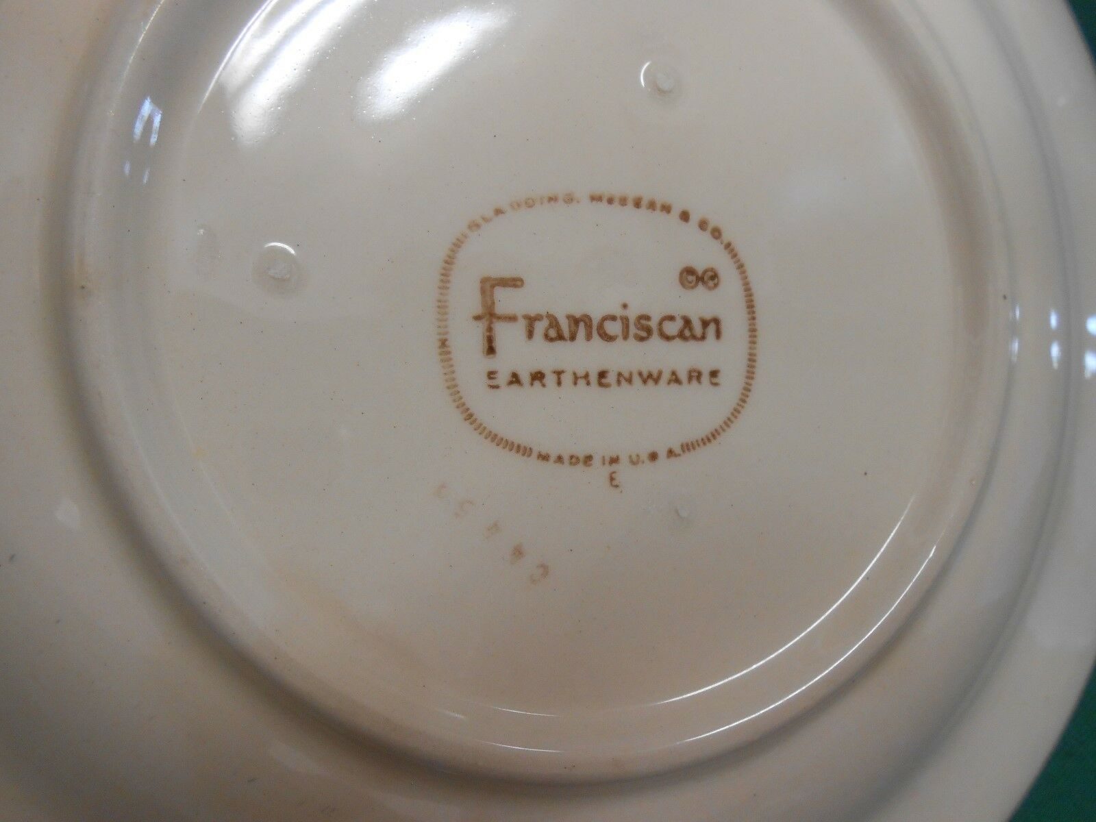"Great FRANCISCAN ""Ivy"" Earthware..... Set of 6 BREAD-SALAD-DESSERT Plates 6.25"""