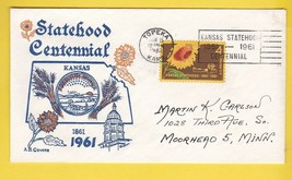 KANSAS STATEHOOD CENTENNIAL TOPEKA KANSAS JUN 15 1961  - $1.98
