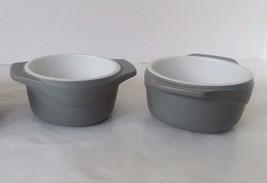 Calphalon Kitchen Essentials 8 Oz Stoneware Bowls 2 Piece Set Bakeware S... - ₨1,618.58 INR