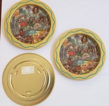 "Three gold-toned aluminum Las Vegas Coasters, 3-1/2""  - $9.95"