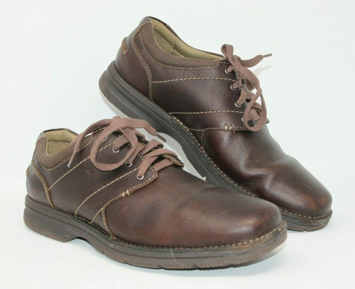 Clarks Size 11.5 W Senner Place Dark Brown 66255 Oxford Shoes Career Men's - $37.99