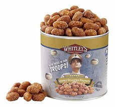 Whitley's We're Proud of Our Troops! Honey Roasted Peanuts 12 Ounce Tin - $18.95