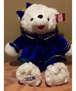DanDee CHRISTMAS Snowflake TEDDY BEAR 2018 Walmart Bear White GIRL Blue ... - $28.71