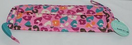 Room It Up Brand TCAE6221 Pink and Turquoise Leopard Print Flat Iron Case image 2