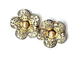Lovely Alexander Fifth Ave Clip Earrings