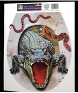 Halloween Prop-CROCODILE ALLIGATOR TOILET TOPPER-Cling Decal Bathroom De... - $6.90