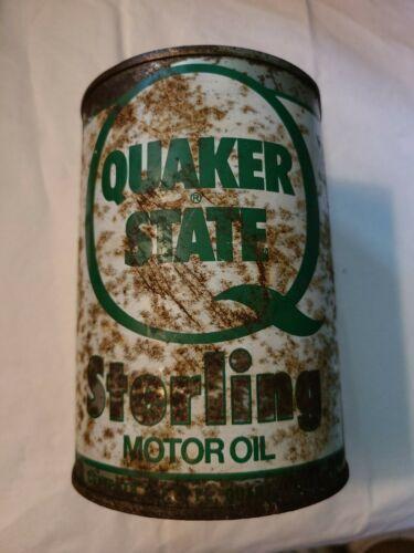 VINTAGE QUAKER STATE STERLING MOTOR OIL ONE QUART CAN