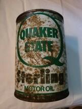 VINTAGE QUAKER STATE STERLING MOTOR OIL ONE QUART CAN  image 1