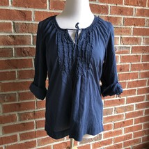Aeropostale Juniors Boho Roll Cuff Sleeve Top - Size L - $10.66