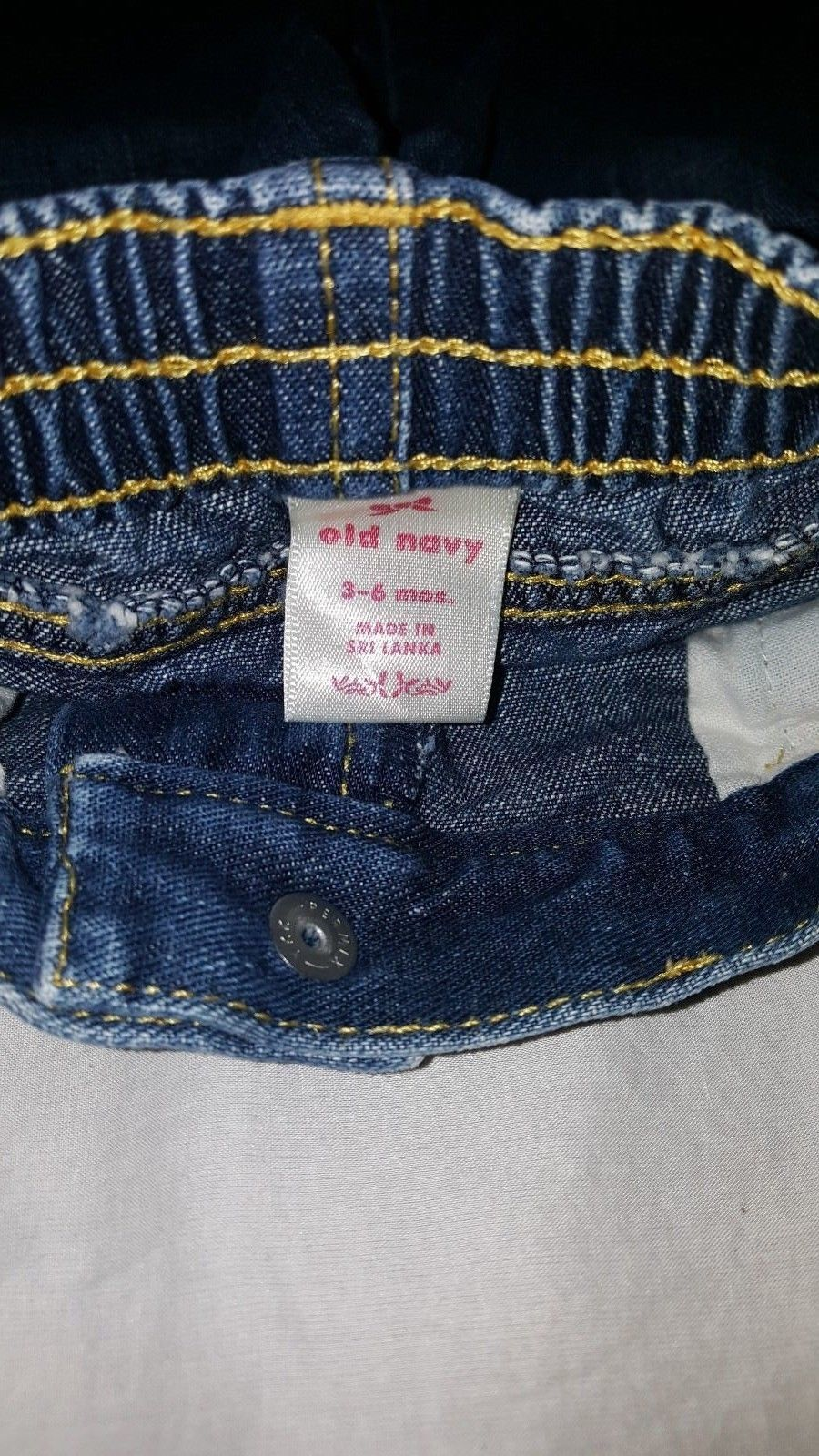 Blue Jeans Denim  Size 3 / 6 Months Girls Old Navy Pull On Baby