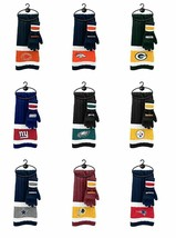 Nfl Team Knit Scarf And Gloves Set New Nwt - You Choose The Team Free Shipping - $21.69