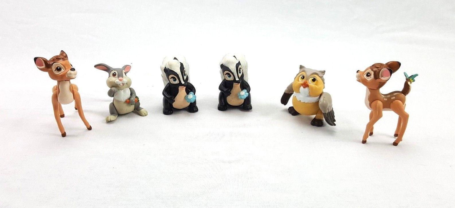 7 Pcs Disney Bambi Thumper Flower Bambi Figure Best Xmas Gift For Childeren