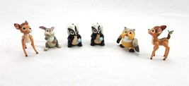 Vintage Disney Movie Characters Figures Bambi Thumper Owl Skunk Flower L... - $16.95