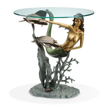 Mermaid and Sea Turtles End Table Item 33708 - $429.00